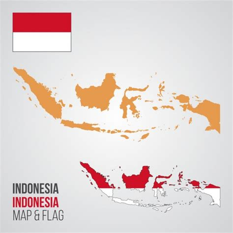 indonesia map vector free indonesia map and flag vector free