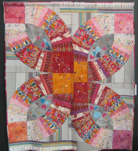 asian wedding ring quilt pattern 296 best wedding ring quilts images on pinterest double