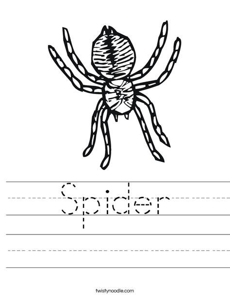spider worksheets for kindergarten spider worksheet twisty noodle