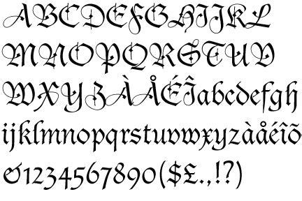 lettere gotiche antiche bastarda schwabacher