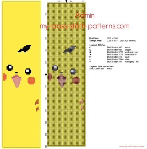 cross stitch pattern maker free download for android cross stitch bookmark with pokemon pikachu free pattern