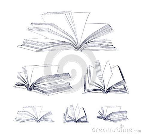 libro the laws sketchbook for open book sketch set stock vector image 38858689