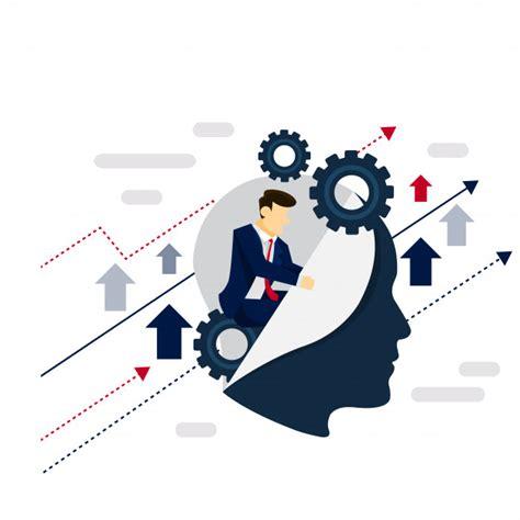 art design entrepreneurship smart system businessman strategy illustration concept