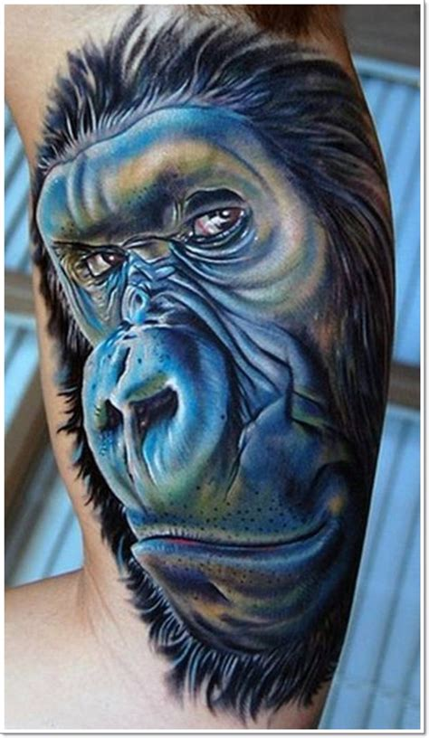 ape tattoo 30 best monkey designs tattoos era