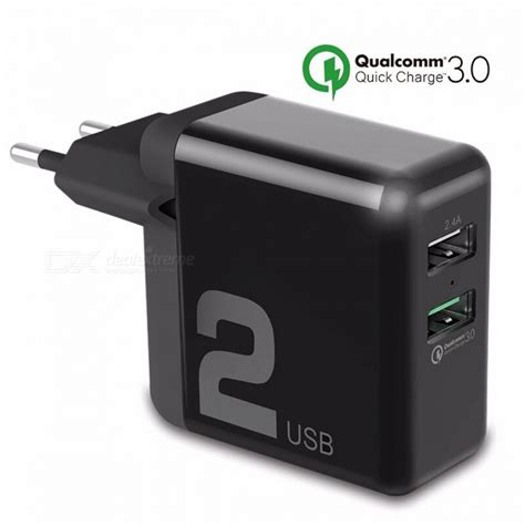 Rock Qc 3 0 Fast Dual Usb Charger 30w Charging 3 0 Mobile Phone rock universal dual usb 30w charging smart qc 3 0
