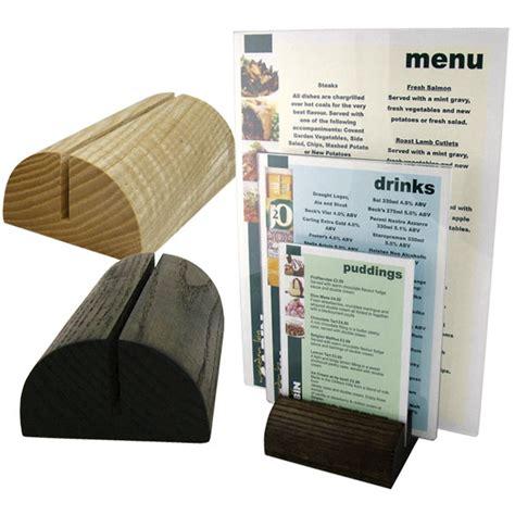 restaurant table top display stands table menu holders tabletop wood holder