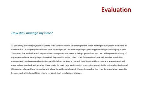 Project Evaluation Letter Extended Project Evaluation Ao4 Evaluating The Project