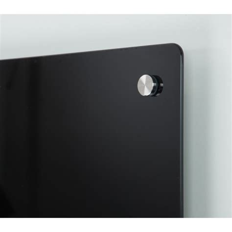 L 856 Black magnetic glass writing boards coloured glass write on board