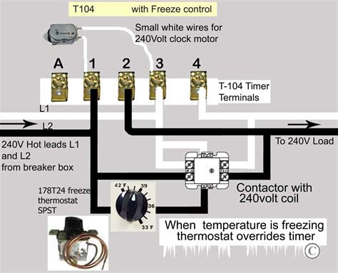 how to wire intermatic t104 and t103 t101 timers timer