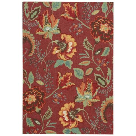 Area Rugs Overstock Nourison Overstock Vista Brick 4 Ft X 6 Ft Area Rug 138064 The Home Depot