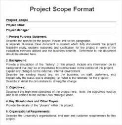 Project Scope Template by Project Scope Template Peerpex