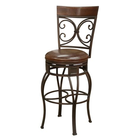 34 Inch Bar Stool Shop American Heritage Billiards Treviso Pepper Bar Stool At Lowes
