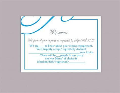 aqua card make a payment diy wedding rsvp template editable text word file