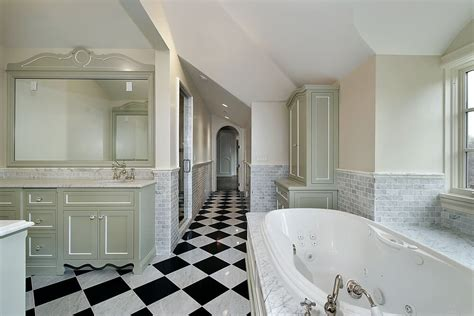 Black And White Checkered Tile Bathroom by 34 Luxury White Master Bathroom Ideas Pictures