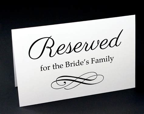 reserved signs for wedding tables reserved signs for wedding reserved table sign wedding