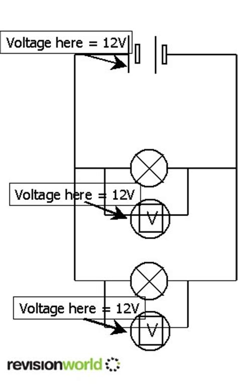 parallel circuits same voltage series and parallel circuits gcse revision physics electricity circuits series and