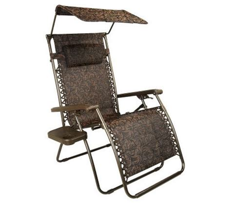 Xl Gravity Free Recliner Bliss Hammocks Xl Gravity Free Recliner W Tray Canopy With Uv Protection Qvc
