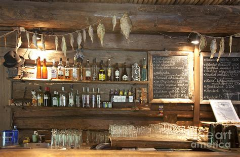 Rustic Decor by Bar With A Rustic Decor Photograph By Jaak Nilson