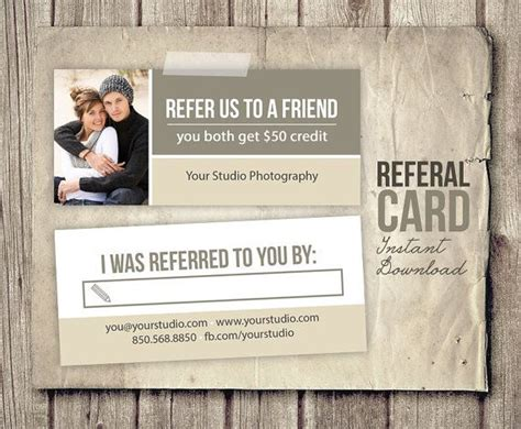 referral cards template 13 best images about photography referral cards on