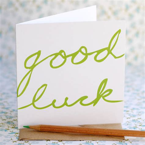 greeting for luck greeting bi fold card idea with green