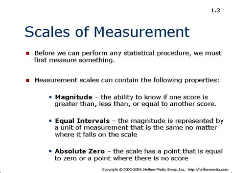 an absolute point scale for the measurement of intelligence classic reprint books 03 allpsych