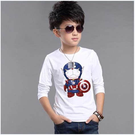 Longtee Boy Ekidz 6 boy tees boys t shirts autumn children clothes sleeve t shirts brand