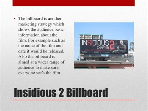 insidious film techniques marketing for insidious 2