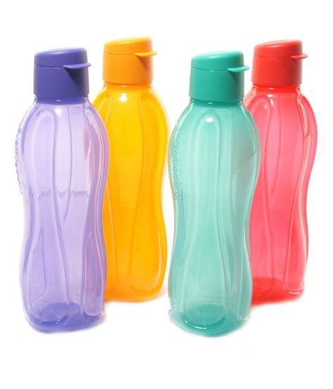 Tupperware Eco Bottle 4 Tali tupperware fliptop bottles 4pcs 500ml buy at best price in india snapdeal