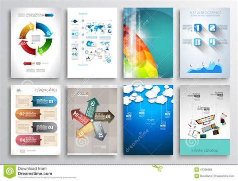 Web Brochure Templates by Set Of Flyer Design Web Templates Brochure Designs Stock