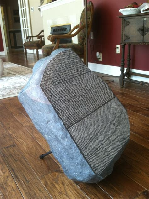 rosetta stone model only one like this in the world