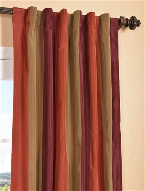 striped faux silk curtains roxbury faux silk taffeta stripe curtains and drapes