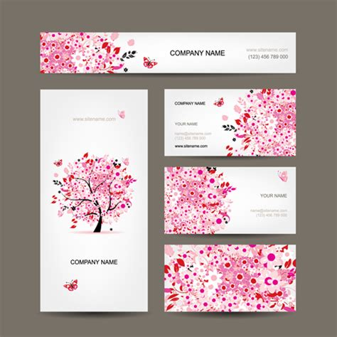 free vintage floral business card template floral tree business card design vector vector card free