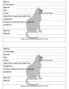 veterinary and animal forms