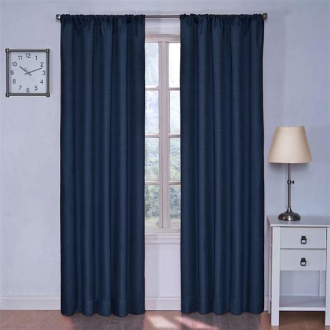 black eclipse curtains eclipse blackout kendall blackout denim curtain panel 84