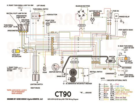 1970 honda s90 wiring diagram honda s90 horn wiring