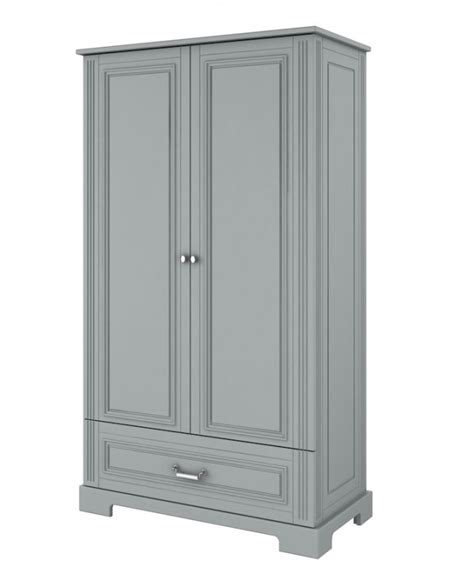 gray wardrobe daisy nursery wardrobe in grey funique co uk