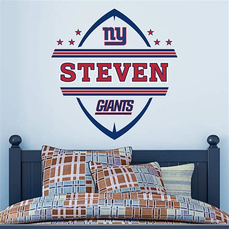 new york giants home decor new york giants personalized name wall decal shop