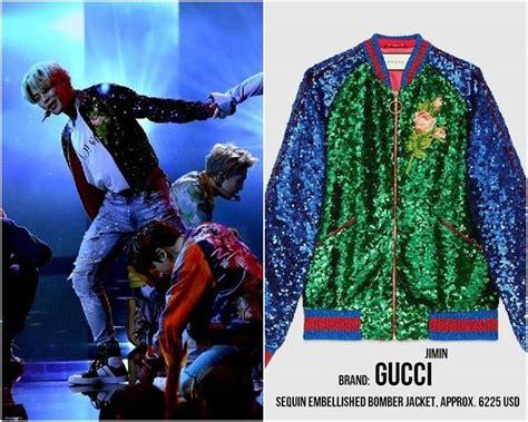 Harga Bomber Gucci harga fantastis kostum bts saat til di panggung amas