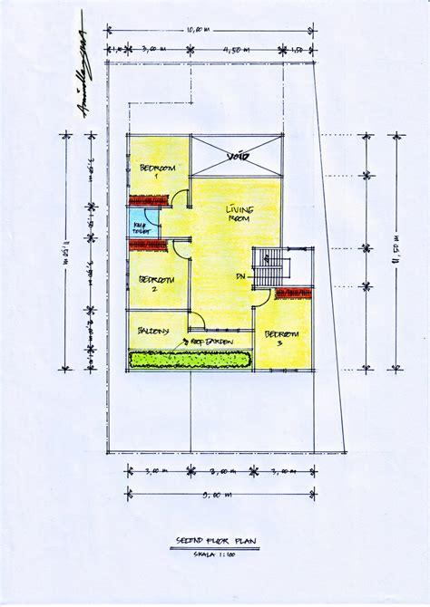 desain rumah diatas lahan berbentuk trapesium pt