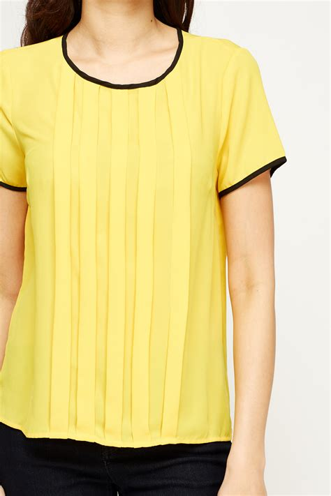 Pleats Top 28 lemon pleated top just 163 5