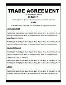 international trade contract template agreement templates free word templates general