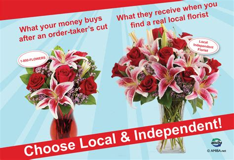 a florist is advertising five types of bouquets 187 flower deliveries advertising vs reality