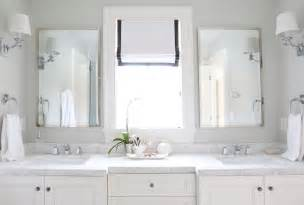 Mirror Height Above Vanity carrara marble countertops transitional bathroom