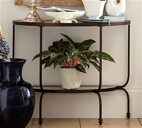 pottery barn willow coffee table willow demilune console table pottery barn