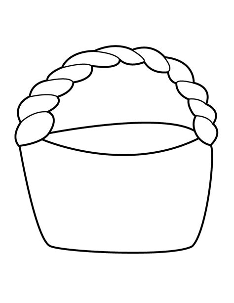 basket template easter basket template free printable clipart best