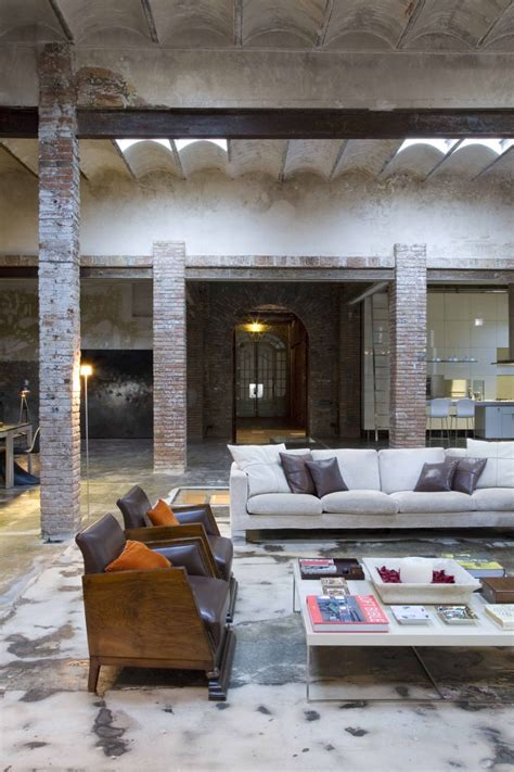 living room warehouse loft barcelona warehouse conversion 5 living room panda