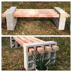 Patio Bench Make Your Own Garden Bench Blocks And Bricks