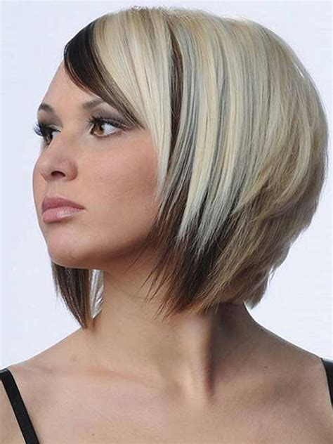 hair styles with frost color two color bob hairstyle the best short hairstyles for