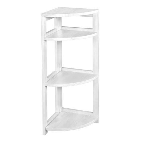 Hton Bay 3 Shelf Standard Bookcase In White Thd90003 1a White Folding Bookcase