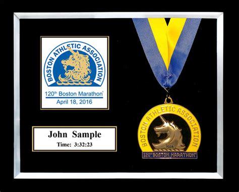 10 x 10 matted shadow box 2016 boston marathon plaques frames fond memories graphics